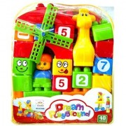 Dream Play Ground 26 Pieces Block Set - Numbers Counting Blocks - NON TOXIC