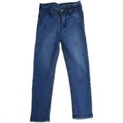 Clues Blue Denim Jeans pattern solid material cotton