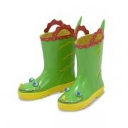 Melissa & Doug - Cizme de ploaie pentru copii Augie Alligator, marime 26-28