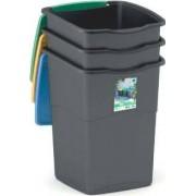 kis 6713422 Set 3 Pattumiere Recycling Plastica 50 Litri - 6713422