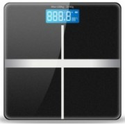 Rorian Personal Body Weight Machine Digital 8mm Toughened Glass Golden/Blue/Red Multi Color SF 180 Weighing Scale(Black)