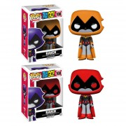 Funko Pop Set 2 Raven De Teen Titans Go Red & Orange Titanes