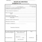 Decont cheltuieli, A5, tipar fata/verso, 100 file/carnet