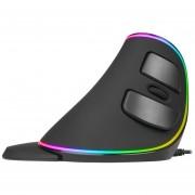 Delux M618 Plus Vertical Rgb Mouse Mouse Con Cable De Luz Respiración