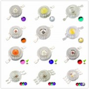10pcs High Power 3W LED Chip 3 W Natural Cool Warm White Red Blue Green Yellow Light 3 watt SMD Intergrated for Spotlight