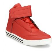 Server Jordano Look Hi-Ankle Red Casual Sneakers