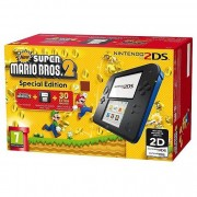 Nintendo 2204549 2ds Nintendo Console Portatile Nero, Blu + New Super Mario Bros 2
