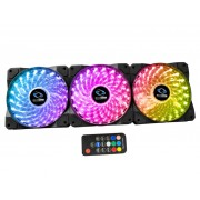 RAIDMAX 120mm RGB 3 Fan Pack 1200rpm