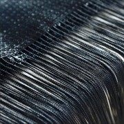 Perdea franjurata ( ate ) dimensiuni 3 x 3 metri - Negru