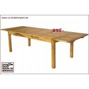 1a Direktimport Original Mexico Möbel - Esstisch bis 280x100 cm, Pinie