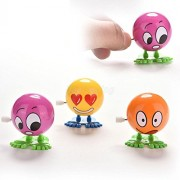 ELECTROPRIME® Cute Wind up Jumping Emoji Emotion Jump Around Clockwork Collectibles Toys