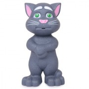 DELTRO Intelligent Talking Cat with Touch Recording Story Rhymes Songs Intelligent Touching Cat with Wonderful