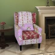 vidaXL foltvarrott dizájnú fotel karfával