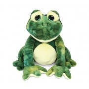 "Puzzled Squat Frog Super Soft Stuffed Plush Cuddly Animal Toy - Animals Collection - 8"" INCH - Unique huggable loveable New friend Gift - Item #5015"