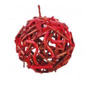 Adorno colgante de bola con troncos - 12cm