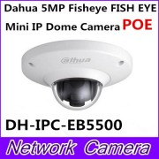 Dahua Newest Vandalproof 5MP Full HD IP FISHEYE Camera W/POE DH-IPC-EB5500 IPC-EB5500 EB5500 Mini IR IP Dome Camera Without Logo