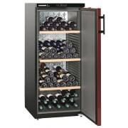 Vitrina pentru vinuri Liebherr WKr 3211, 295 L, 164 sticle, Rafturi lemn, Control taste, Display, H 135 cm, Clasa A++, Negru