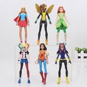Samanis 15 Cm Super Hero Girls Super Hero ,Poison Ivy Bee Harley Quinn Wonder Woman Action Figure Doll Set(6Pcs/Set)