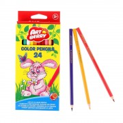 Set 24 creioane colorate hexagonale