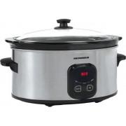 Slow cooker Heinner HSCK-C57IX, 5.7L, Timer (Inox)