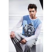 Laete Стильная толстовка для мужчин голубая Laete L60061c1 распродажа