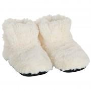Merkloos Creme warmte pantoffels/sloffen voor dames