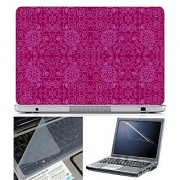 FineArts Laptop Skin Abstract Series 1042 With Screen Guard and Key Protector - Size 15.6 inch