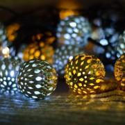 Mandala dekorációs fényfüzér (zöld kábel, meleg és hideg fehér)