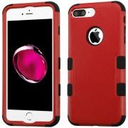 Funda Case Para IPhone 7 Plus / IPhone 8 Plus Protector Dobre De Uso Rudo-Rojo Con Negro