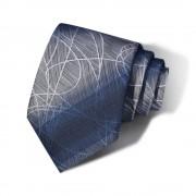 Cravata barbati bleumarin-gri