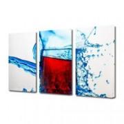 Tablou Canvas Premium Abstract Multicolor Pahar Cu Vin Decoratiuni Moderne pentru Casa 3 x 70 x 100 cm