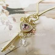 Dames Hangertjes ketting Kristal Legering Hartvorm Hart Goud Zilver Sieraden
