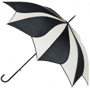 Blooming Brollies Umbrelă pentru femei Black and Cream Swirl Umbrella EDSSWB/C