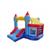 Bounce House Castle Bouncy Inflatable Slide Playhouse with Ball Pit Basketball Hoop with Blower Balls by BestParty
