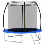 Koohashop Set trambulină rotundă 244 x 55 cm 100 kg