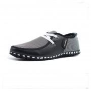 Zapatos Lienzo De Encaje De Negocios Para Hombre - Negro