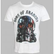 tricou cu tematică de film bărbați Sons Of Anarchy - Biker Skull - LIVE NATION - PE11067TSWP