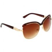Zyaden Brown Over-sized Sunglasses for Women 508