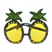 Hawaiian Beach Style Funny Pineapple Shape Sunglasses Goggles For Fancy Party Yellow&black