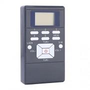 Oumij Radio FM de Transistor Compacto De Onda Corta FM Soporte de Tarjeta Micro SD TF Temporizador de Sueño y Batería Recargable Despertador Portátil con Radio Am/FM(Gris)