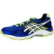 ASICS Men's Gel-Fortitude 6(2E) Blue, White and Flash Yellow Mesh Running Shoes - 7 UK