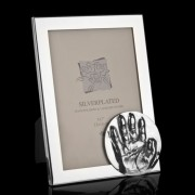 Fotolijst silver-plated met ronde zilveren afdruk