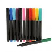 Segolike 12 Pieces Colorful Paint Marker Pen Washable Brush Felt Tip for Art Painting