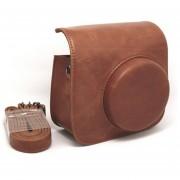 [Fuji Instax Mini 90] --Vintage Completa Protección Funda De Cámara Fujifilm Instax Mini Bolsa Para 90 Neo Clásica Cámara De Película Instantánea Con Suave Cuero PU MULBA M82 Brown