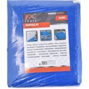 Merkloos Afdekzeil/grondzeil blauw 4 x 6 meter