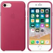 Apple iPhone Leather Case - оригинален кожен кейс (естествена кожа) за iPhone 8, iPhone 7 (розов)