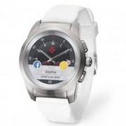 Хибриден смарт часовник MyKronoz ZeTime Petite Silver/White, силиконова бяла каишка, KRON-ZETIME-PET-WHSIL