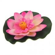 DealMux peces de acuario tanque estanque artificial flotante de la flor de loto de la decoración del ornamento color de rosa