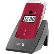 Primo by DORO 413 telefon pro seniory - véčko nabíjecí stanice, tlačítko SOS červená