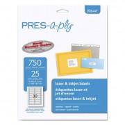 Laser/inkjet File Folder Labels, 2/3 X 3 7/16, White/assorted Border, 750/pack